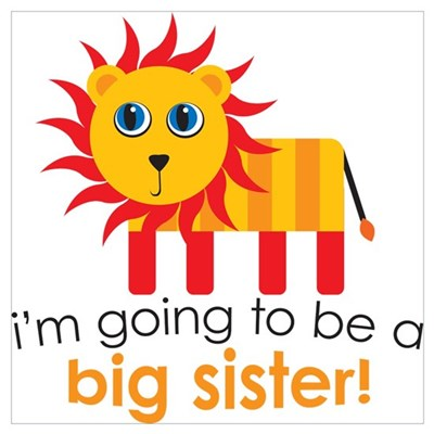 Big Sister To Be Lion Canvas Art